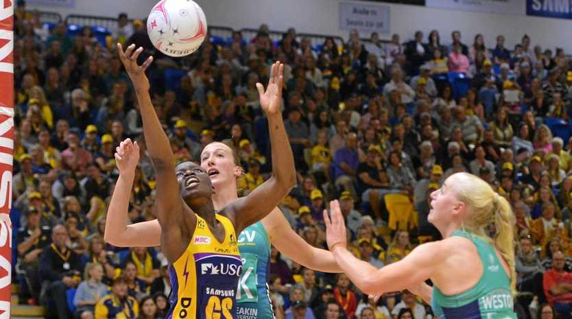 NETBALL: Sunshine Coast Lightning V Melbourne Vixens. Lightning's Peace Proscovia.