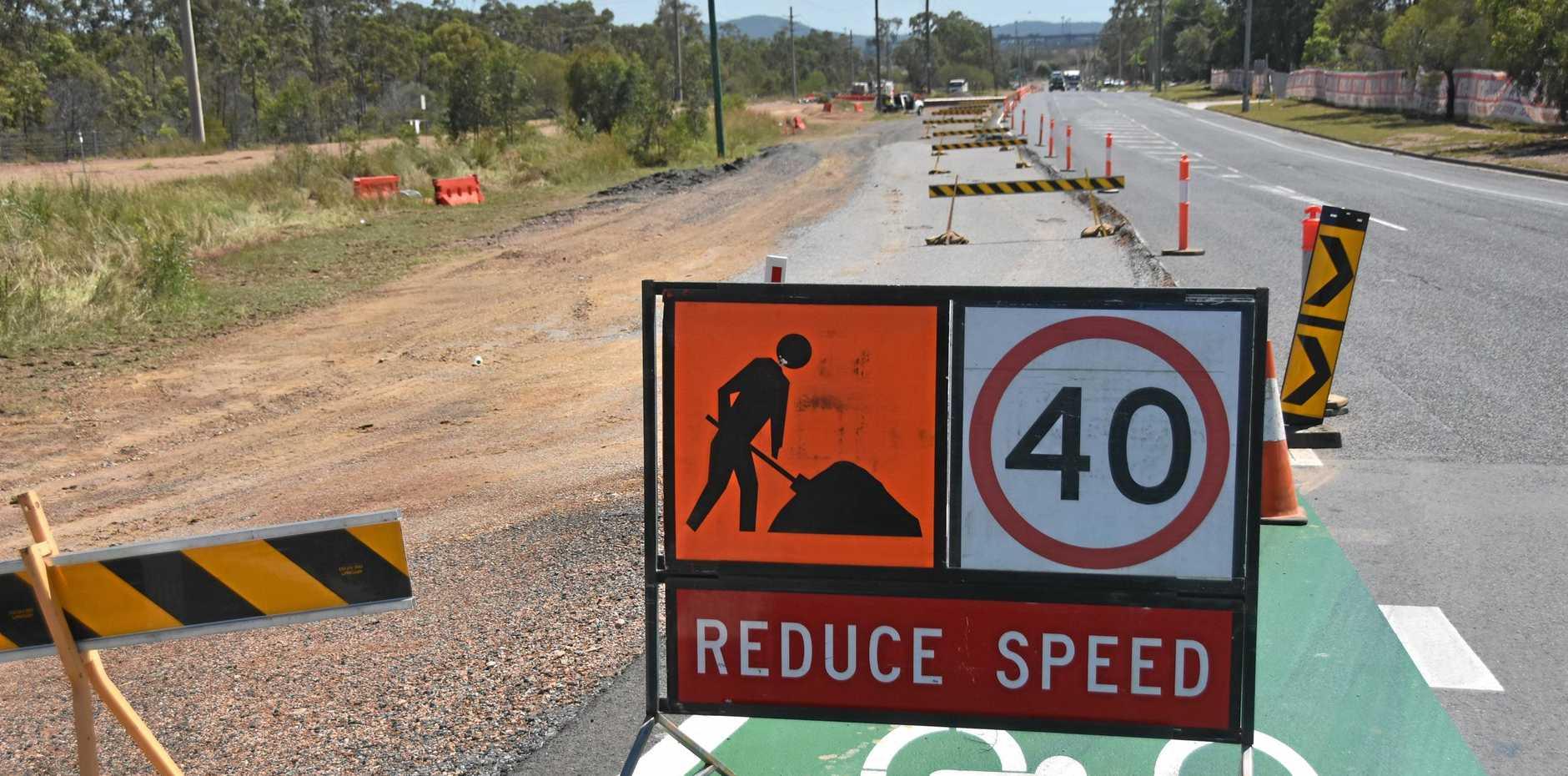 A roadworks sign.