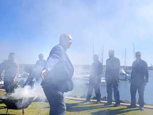 Smoking ceremony welcomes barbecue boats