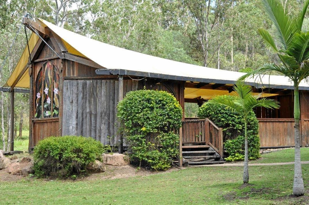 Cedar Galleries in Calliope is for sale and one of the features is a bush chapel.