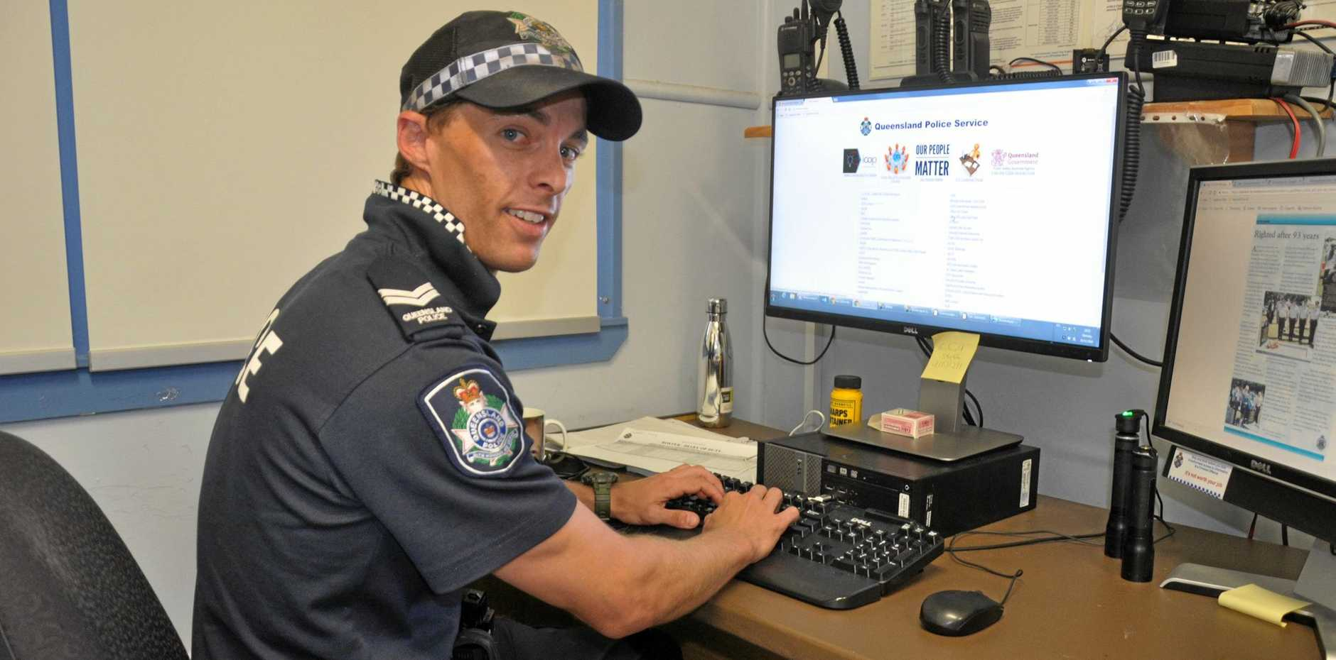 KEEPING THE PEACE: Senior Constable Geoff Price has cautioned a