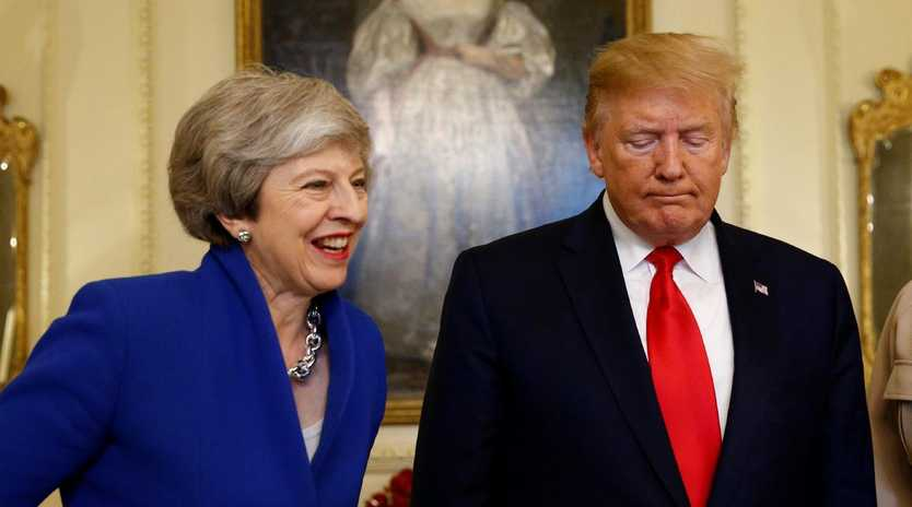 Prime Minister Theresa May and US President Donald Trump during a visit to 10 Downing Street. Picture: Henry Nicholls/WPA Pool/Getty Images