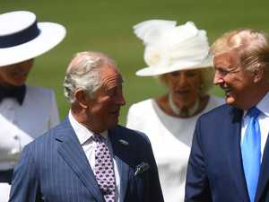 Royals roll out red carpet for Trumps