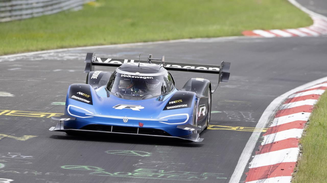 Volkswagen ID.R at the Nurburgring in Germany.