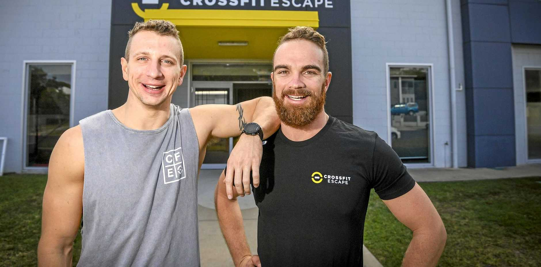 HIGH STANDARDS: Troy Robinson and Travis Williams are the new owners of Cross Fit gym CrossFit Escape, on Side St in West Gladstone.