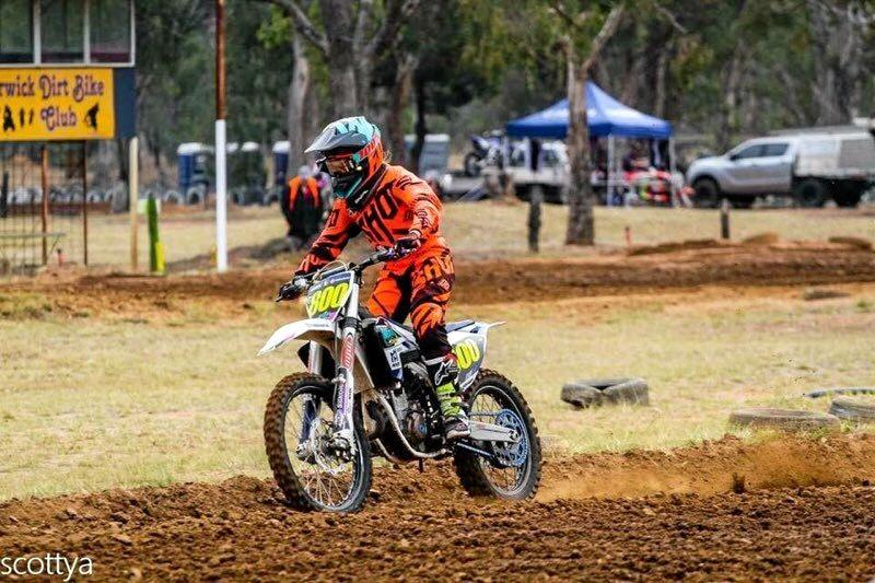 Abbey Morrice will compete in the WOW motocross round in Warwick this weekend.