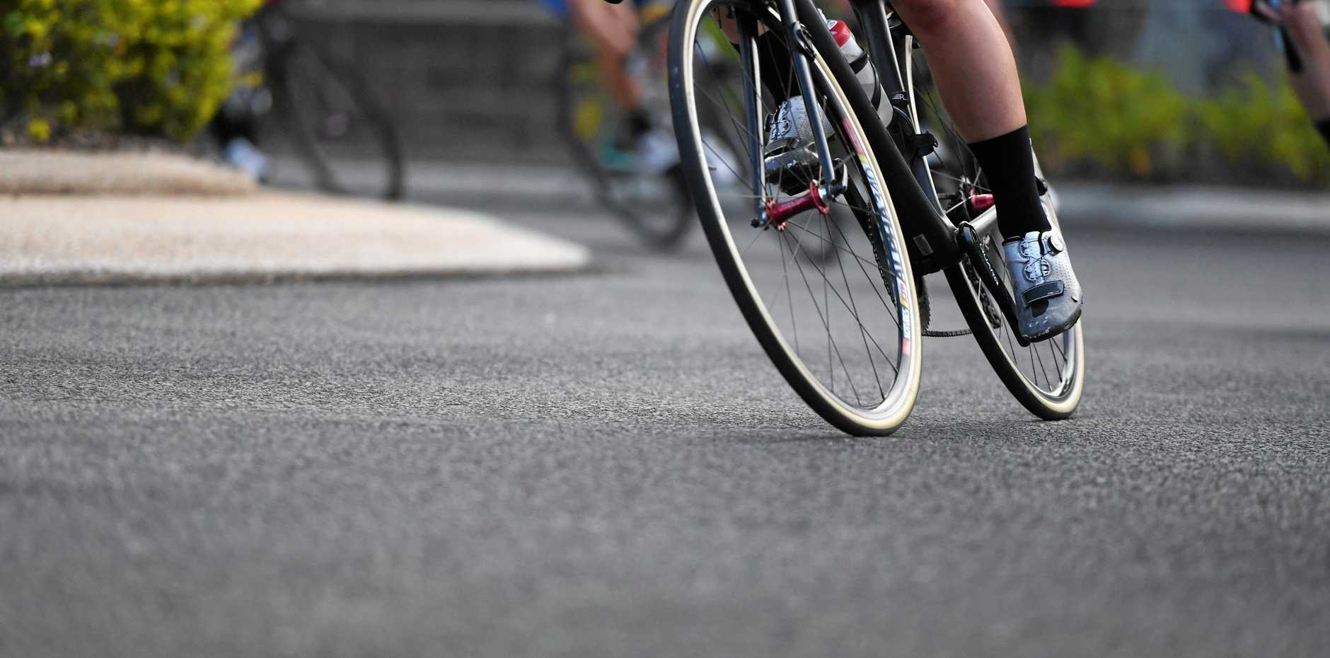 A vehicle was struck by a bicycle rider in Kingaroy.