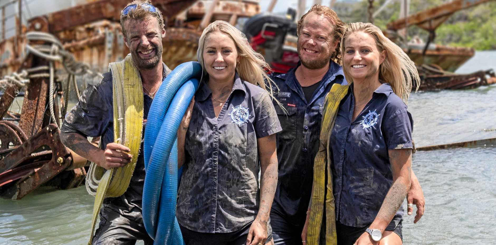 TO THE RESCUE: The Aussie Salvage Squad team, Luke Purdy, Jayde Towers, Dan Miliauskas and Ellie Faranda aren't afraid to get their hands dirty.