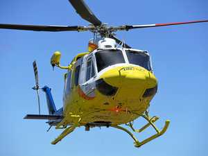 Patient airlifted to hospital after early morning fire