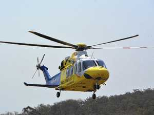 Motorbike rider airlifted with serious injuries after crash