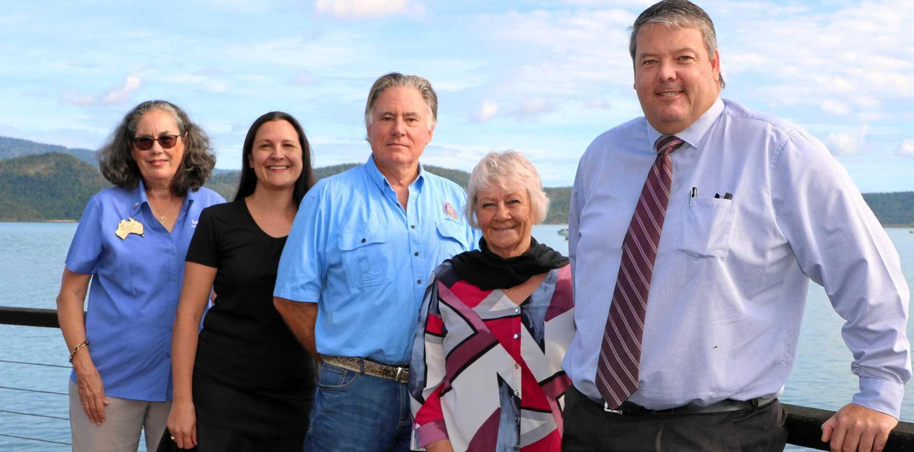 HISTORIC: Merewyn Wright, Donna Van 't Hoff, David Paddon, Cr Jan Clifford and Mayor Andrew Willcox.