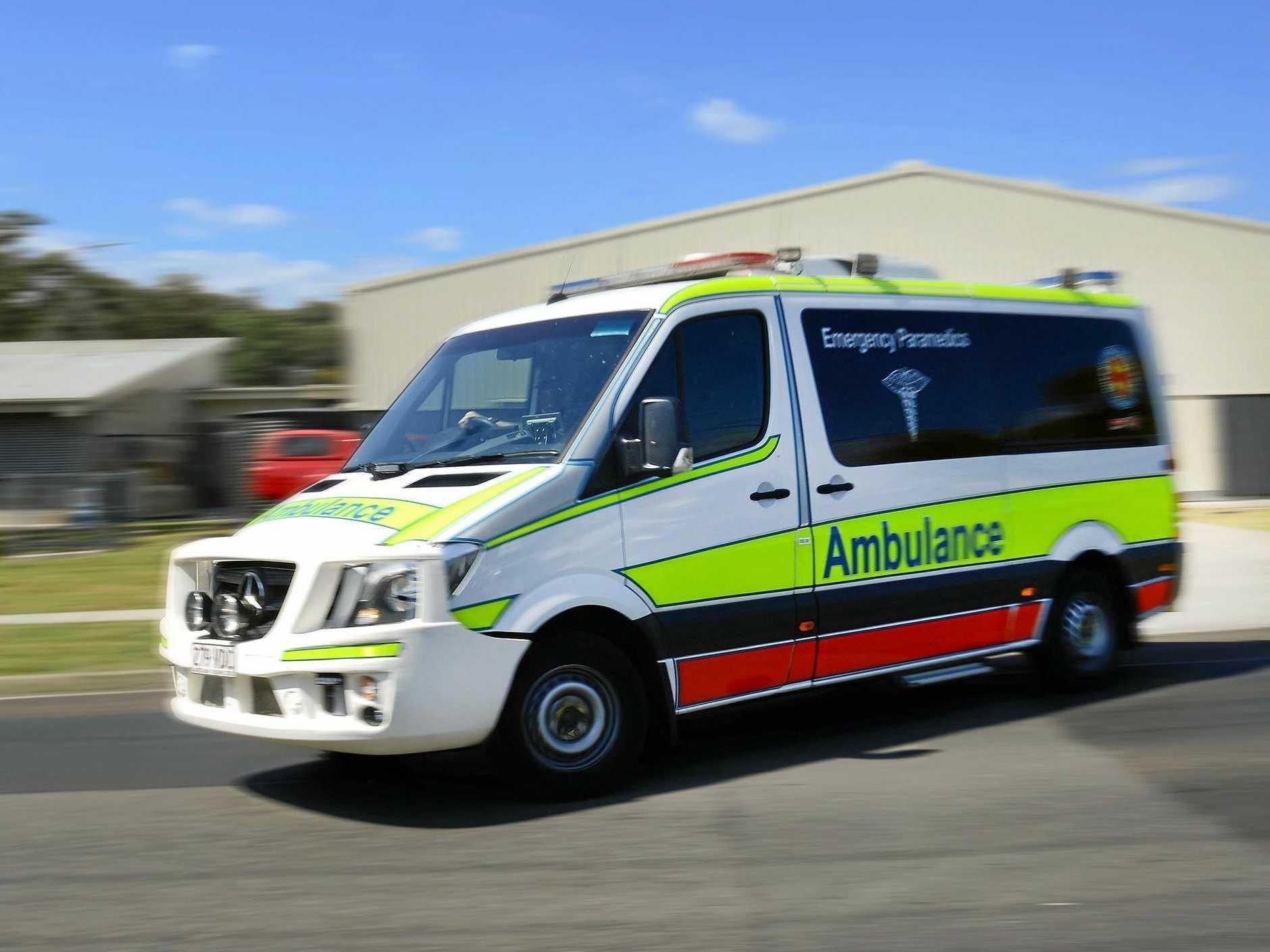 FILE PHOTO: A motorbike rider was taken to Nambour Hospital after a motorbike crash at Nambour this morning.