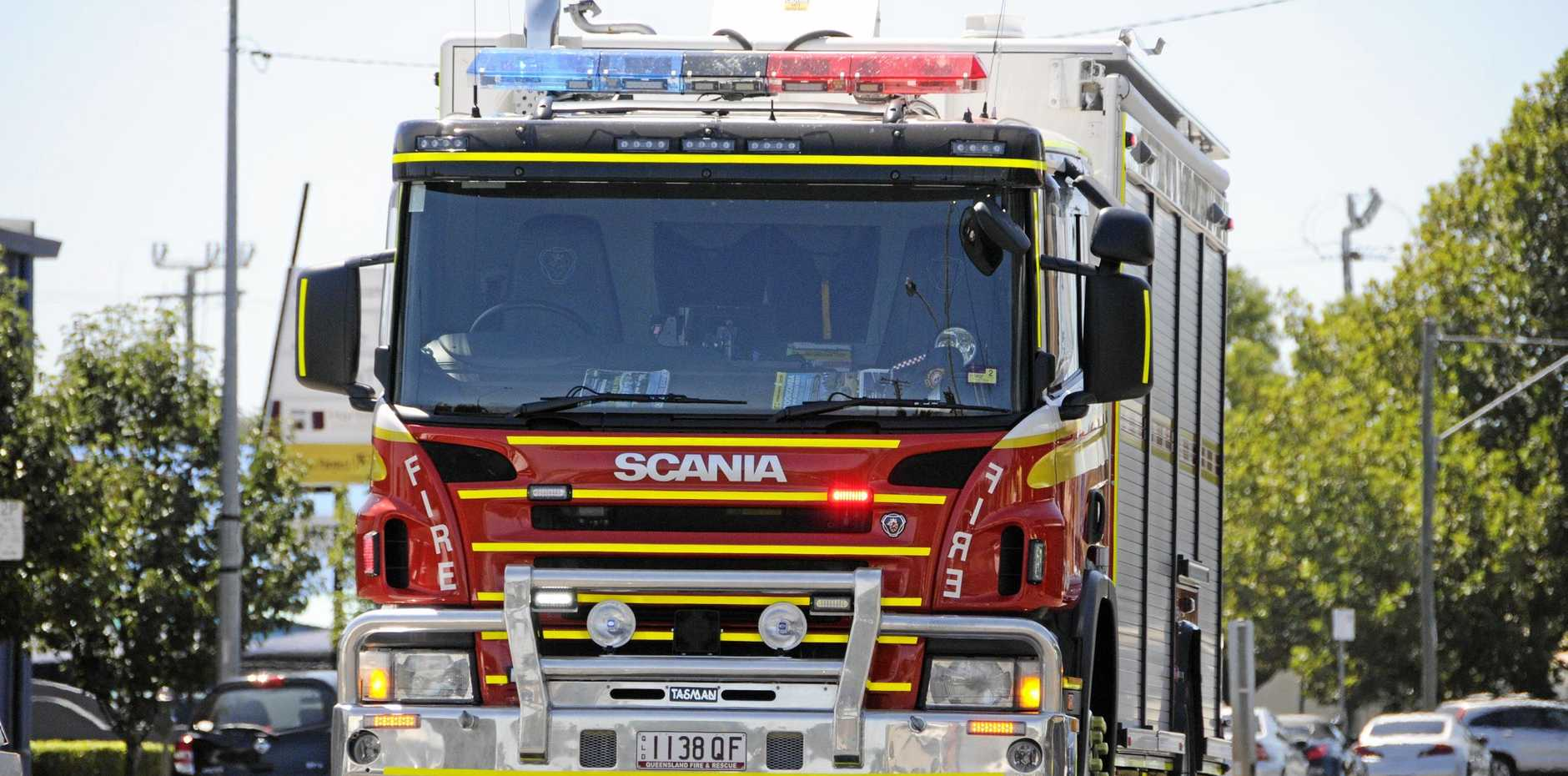 FIRE: Four crews are currently working to contain a fire in Tannum Sands.