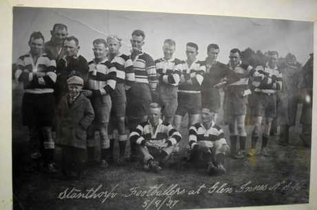 Jimmy Mann is pictured back row, third from the left. Over his right shoulder stands Mick Madsen. Not only a former Stanthorpe player, but Australian test player/captain and Queensland representative. Jimmy's three brothers, Jack, Mick and Tom, are pictured in the photo too.
