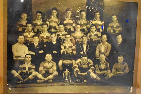 Jimmy Mann in 1932 with the Tooheys Cup winning Stanthorpe side. He's pictured front row, second from the left.