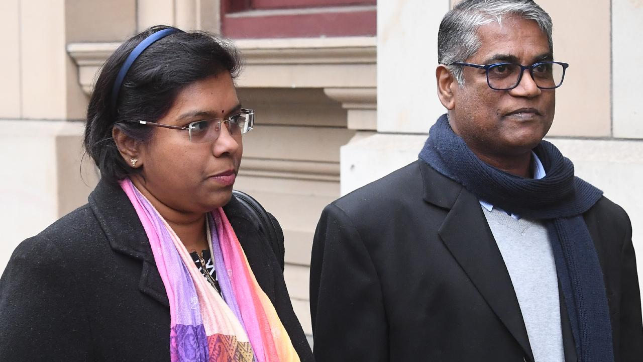 Roger Singaravelu (right) and wife Maha Solomon are 'devastated' by the attack and have ongoing health problems and nightmares. Picture: Julian Smith.