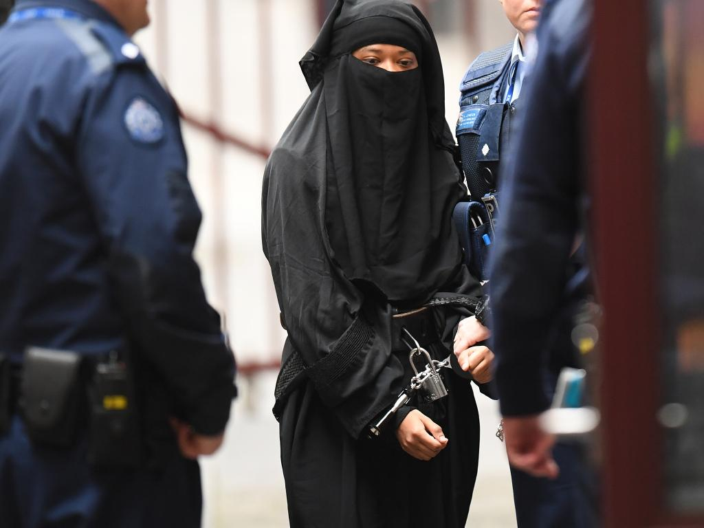 The judge said she realised incarceration will be difficult for Momena Shoma who has to be cuffed and shackled outside her cell and wears the niqab in jail. Picture: Erik Anderson.