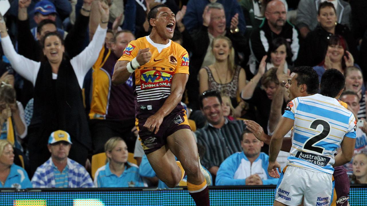 Folau left Brisbane to join AFL club GWS Giants. Picture: Adam Head