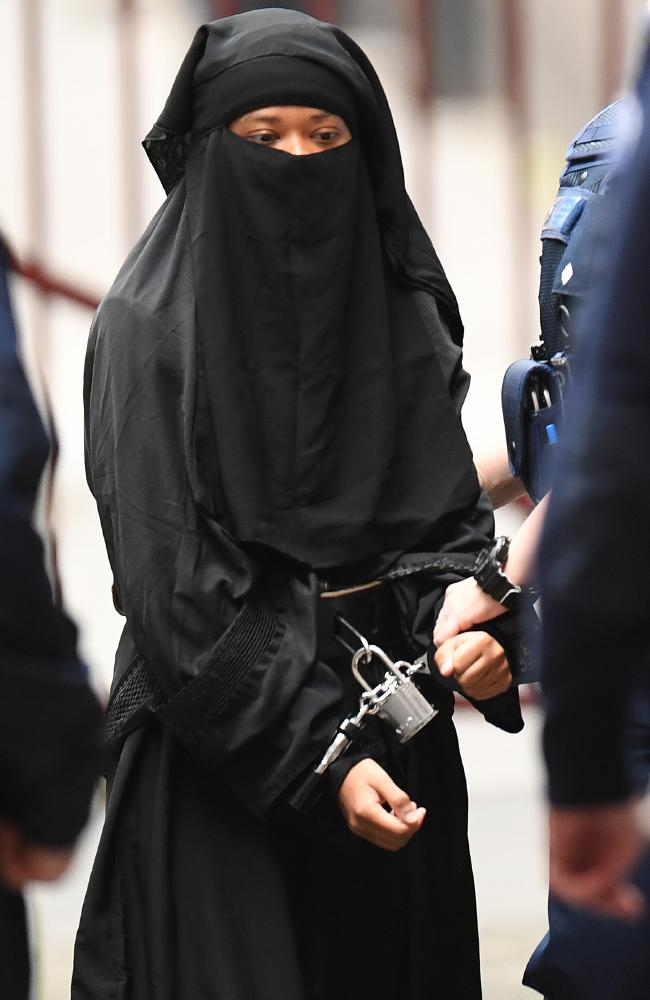 Tiny terrorist Momena Shoma will spend at least 31 years in a Victorian prison. Picture: Erik Anderson.