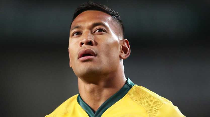 Sacked Wallaby Israel Folau doesn't feel he has been treated fairly by Rugby Australia. Picture: Getty Images