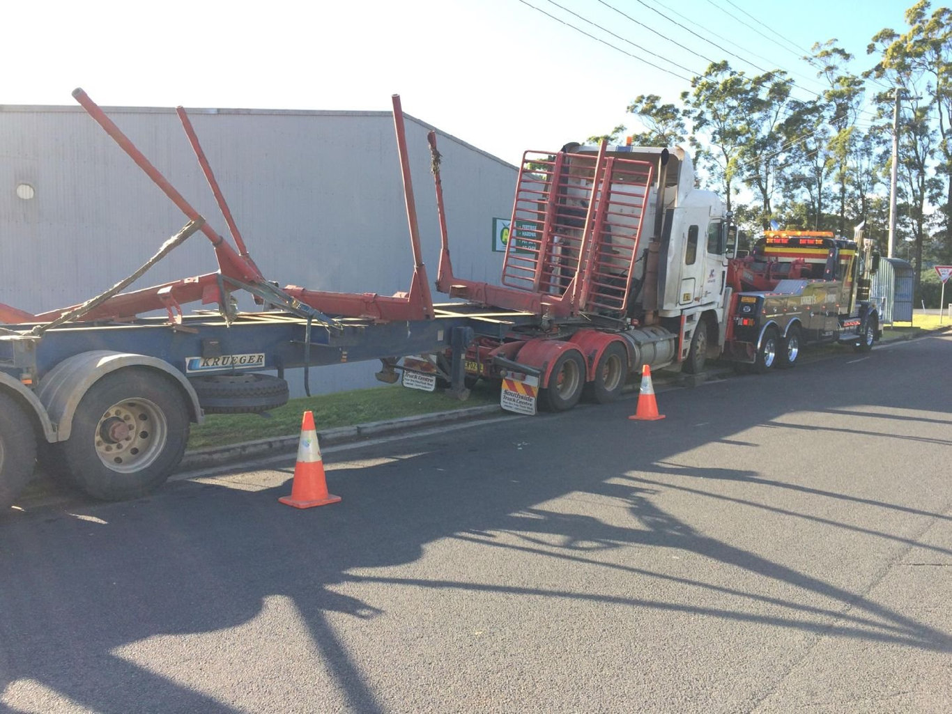 A man has died after a truck crash on the Lismore-Bangalow Rd.