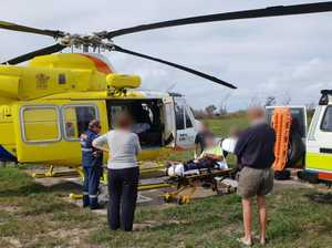 BREAKING:  Man's leg crushed in Fraser Island accident