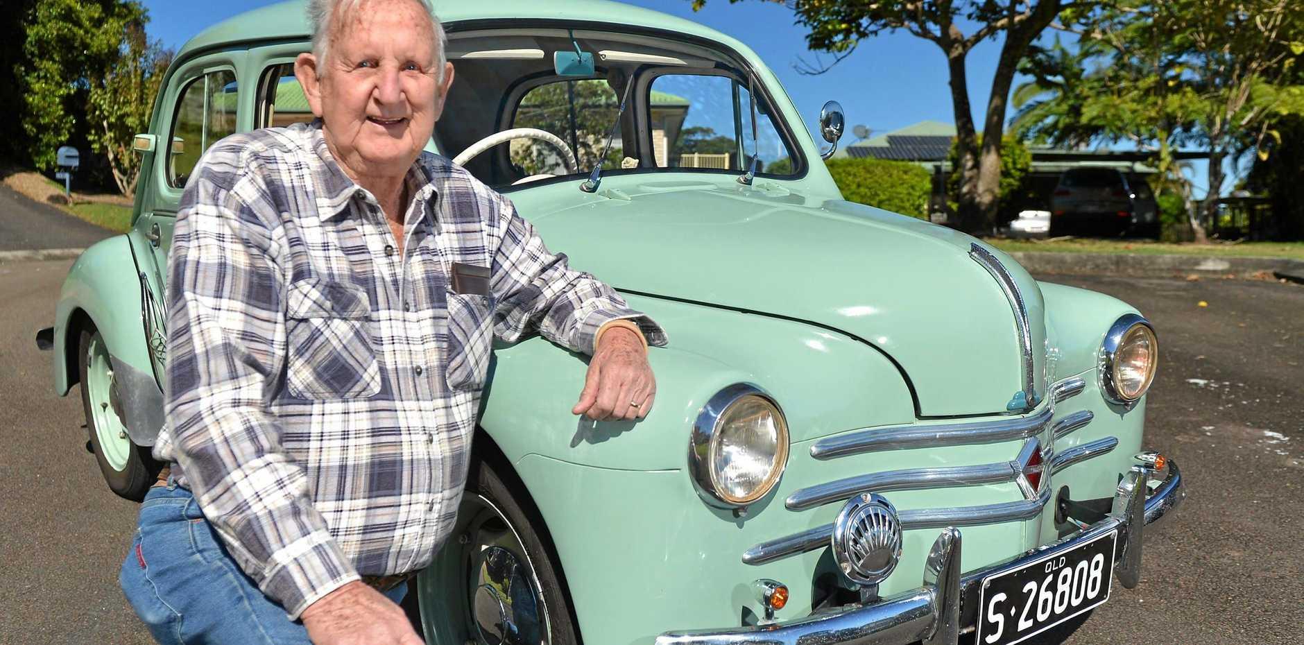 MY RIDE: Erroll Kerr with his 1956 Renault 750 4CV.