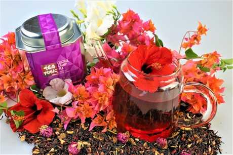 Tea Tonic products, available at the Caloundra Street Fair.