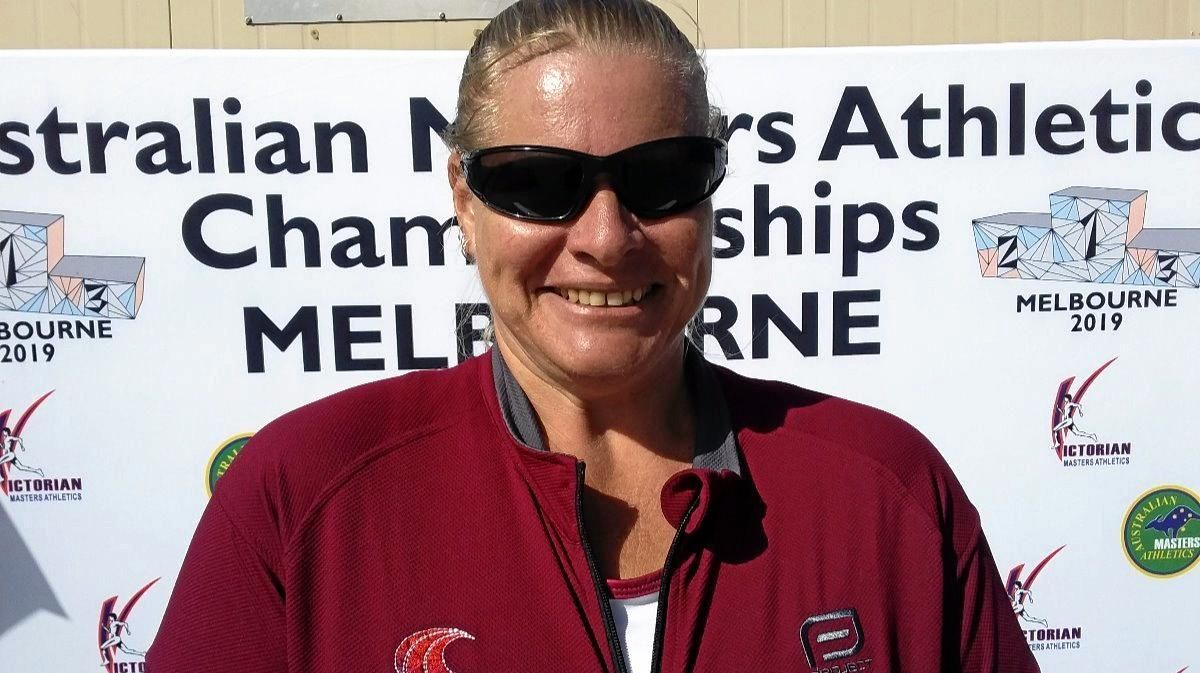 LIFELONG ATHLETE: Emerald's Faye Neville will represent Australia at the Oceania Games in August.