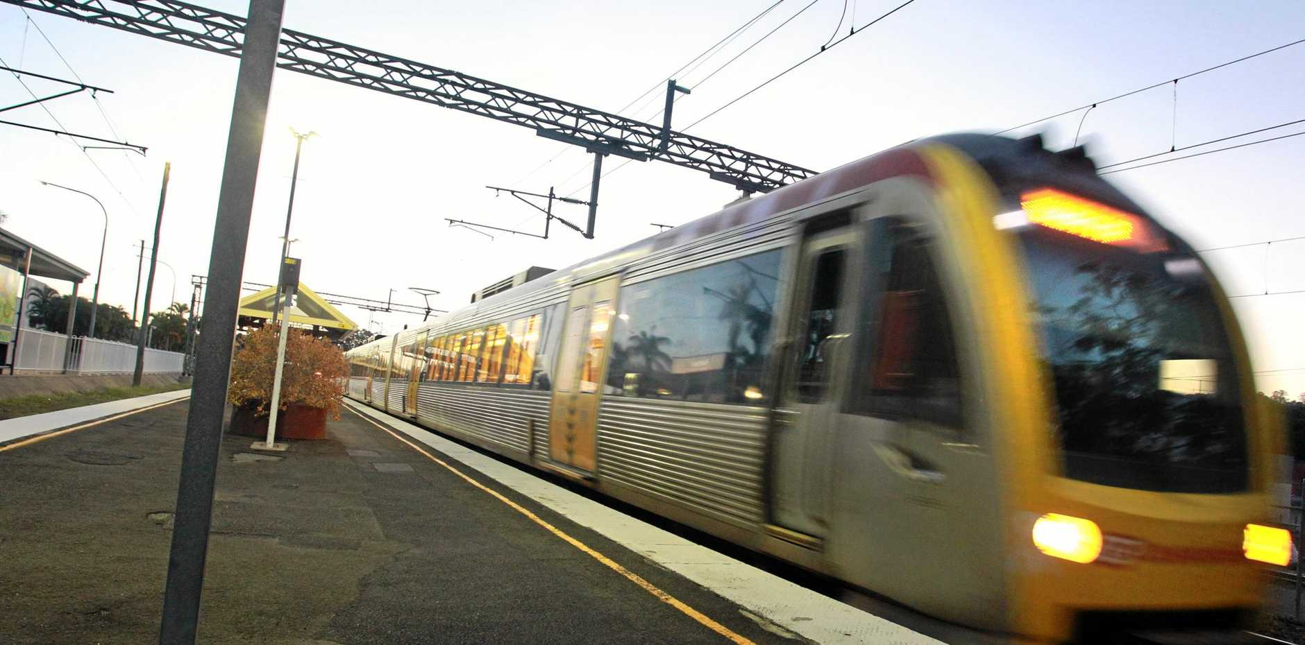 The Wednesday afternoon train from Brisbane arrives at the Nambour Railway Station at 7pm. Story about a day in the life of commuters to Brisbane on our trains by Kathy Sundstrom.Photo: Brett Wortman / Sunshine Coast Daily