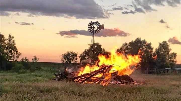 IT'S COLD: Bonfires like this one at Golden Downs, Kilcummin are just one way people have been keeping warm throughout the recent cold snap.