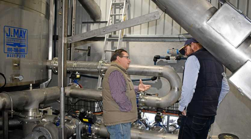 SNEAK PEEK: Customers and suppliers were treated to a tour at the opening of the new Performance Feeds plant in Dalby