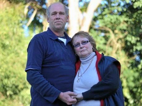 STILL GRIEVING: Sean Scovell's parents Brett and Bonnie Scovell.