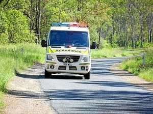 Female airlifted after motorbike accident