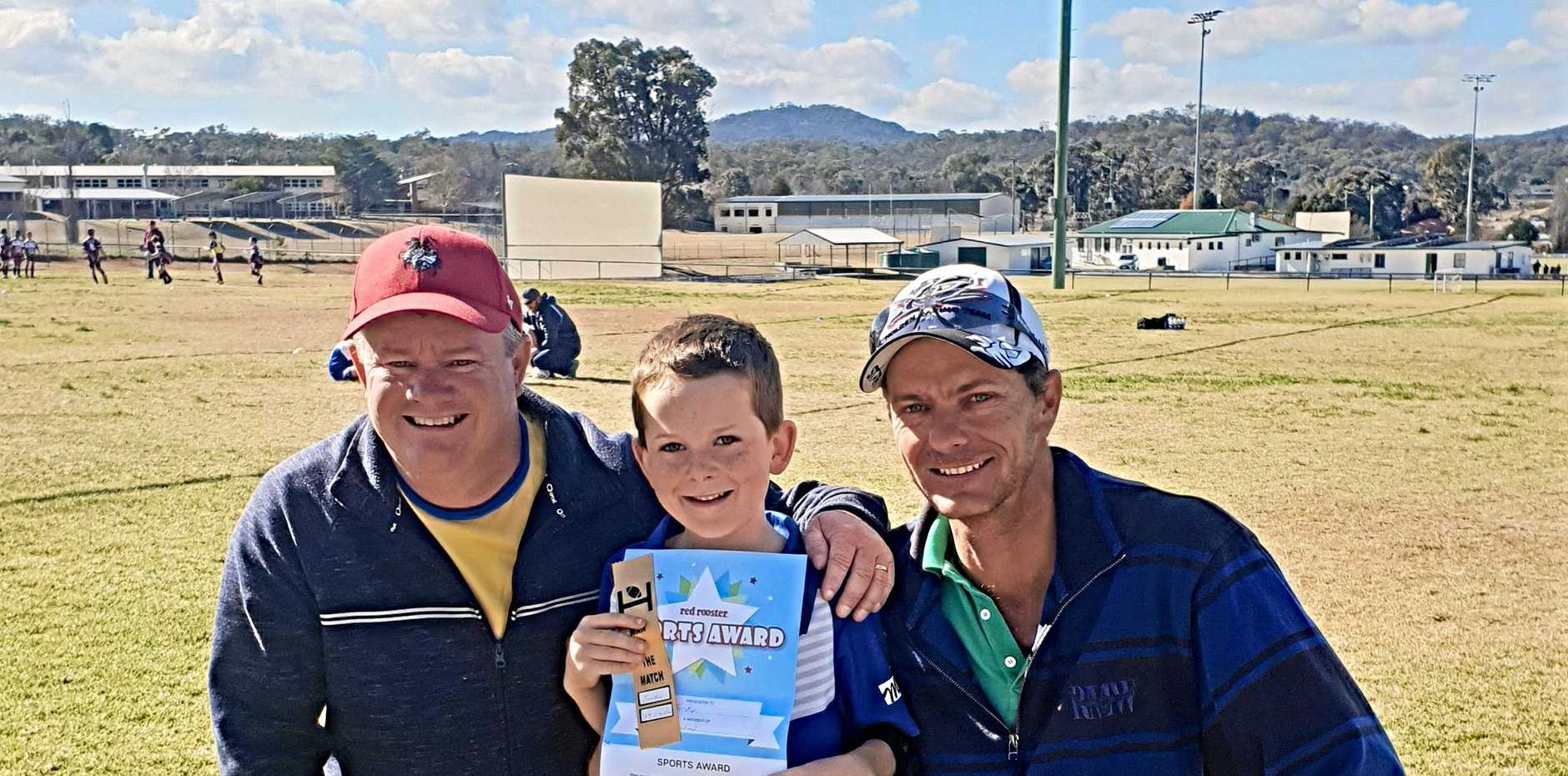 BIG EFFORT: Under-8's junior Gremlins player Jordy was named the Red Rooster Man of the Match in his game against Warwick Suburbs on Saturday.