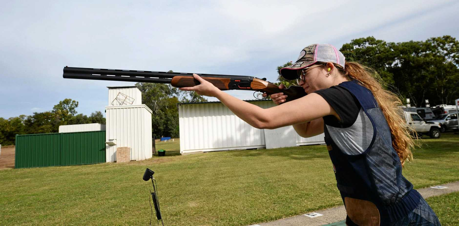 Jasmine Hamilton will be among the competitors taking aim at the Rockhampton Clay Target Club's annual two-day carnival.