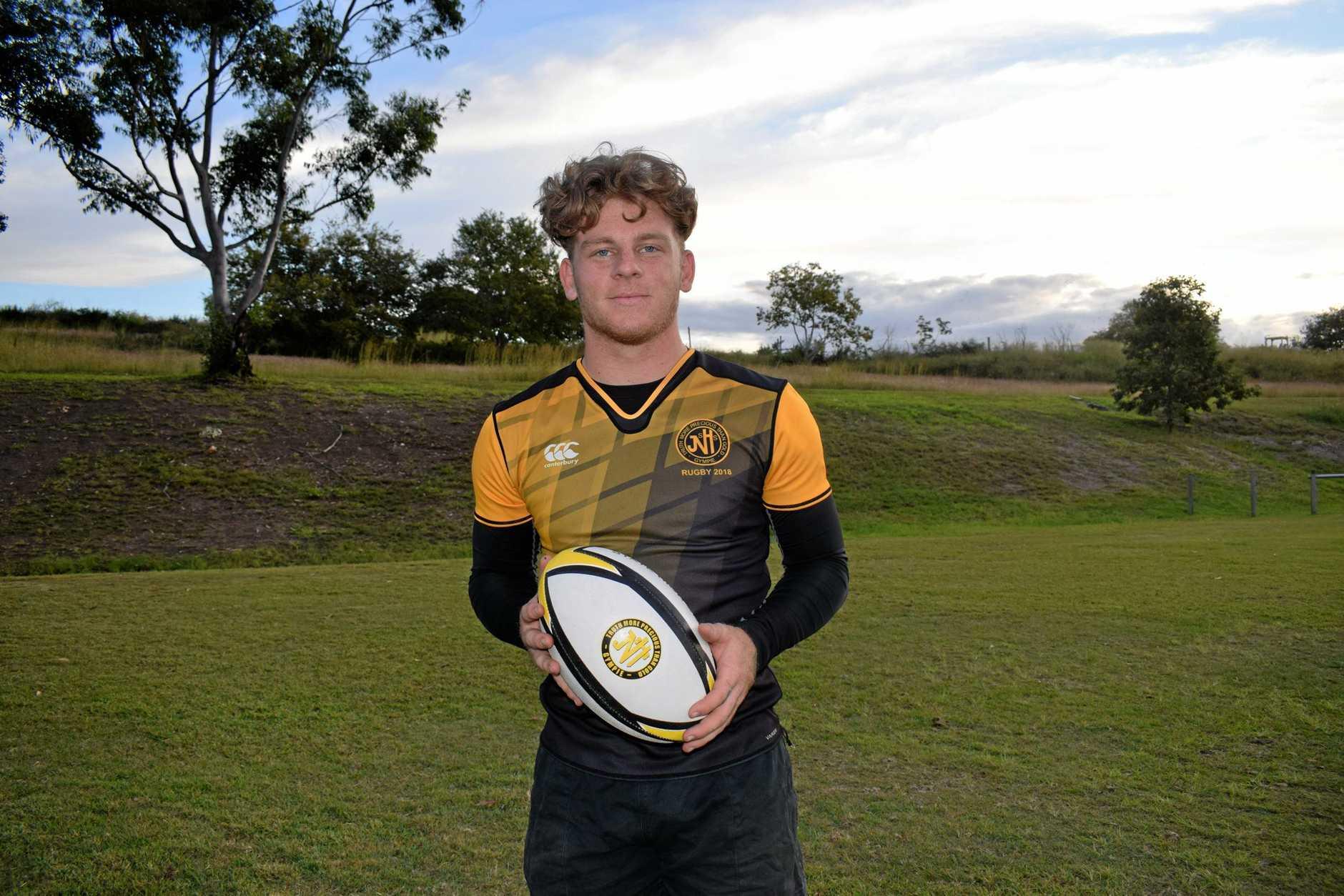 Gympie school rugby - Brae McAllister, 17.