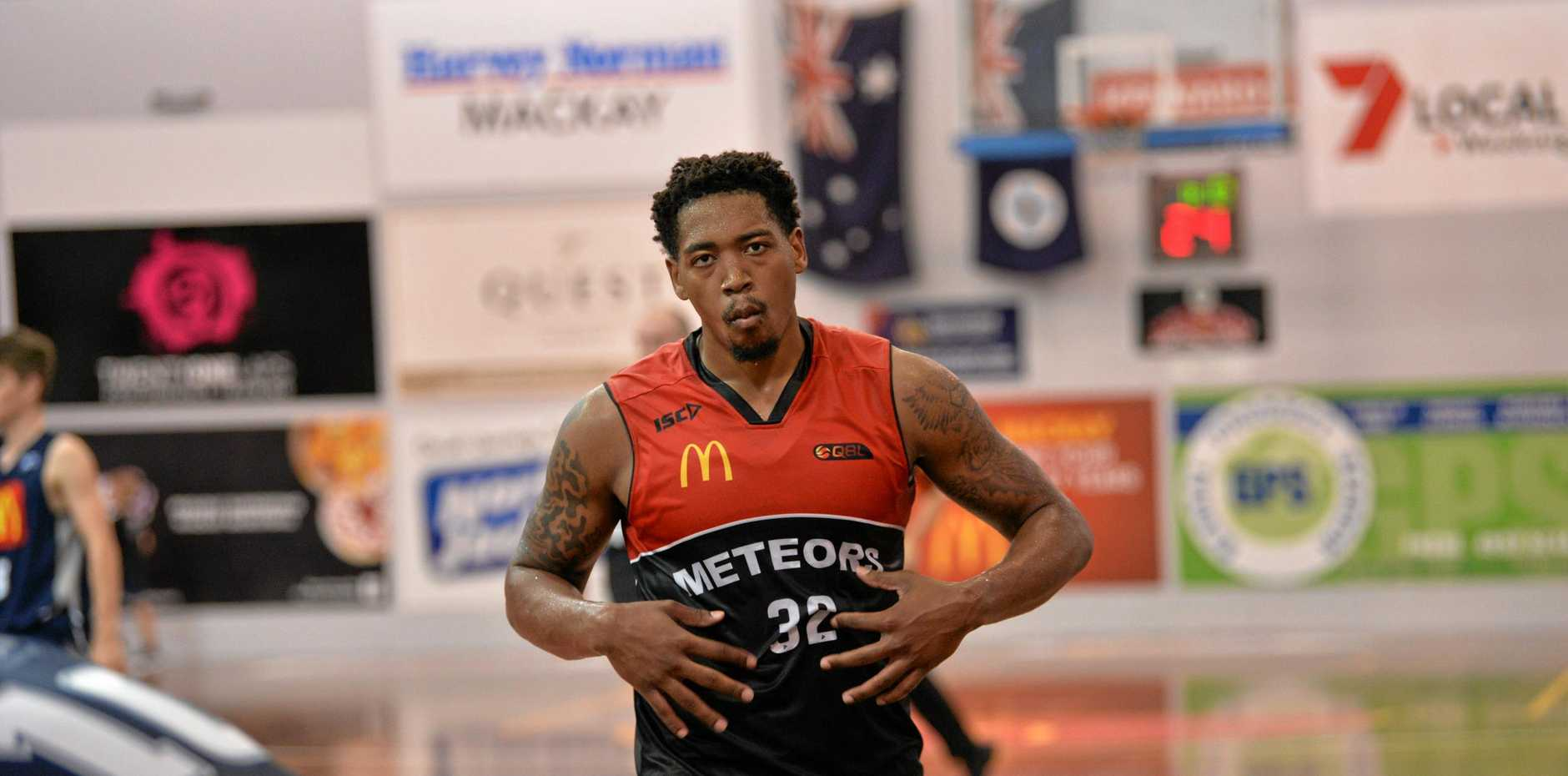 THE HUSTLE: Mackay Meteors player Bryce Washington said his team's true identity was their grit and drive on court.