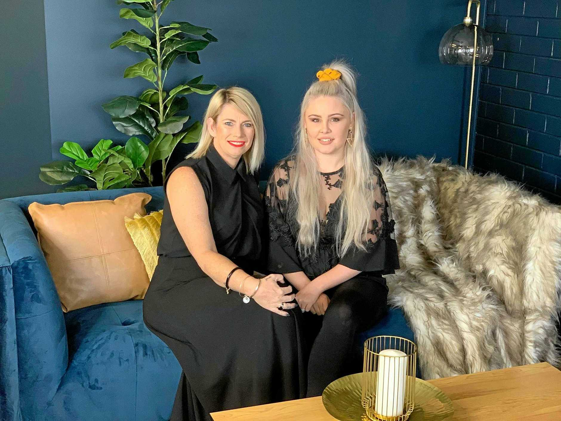 Nicole McDonell and Hannah Vagg, owners of new Mackay business Maxyn Asher Hair Salon.