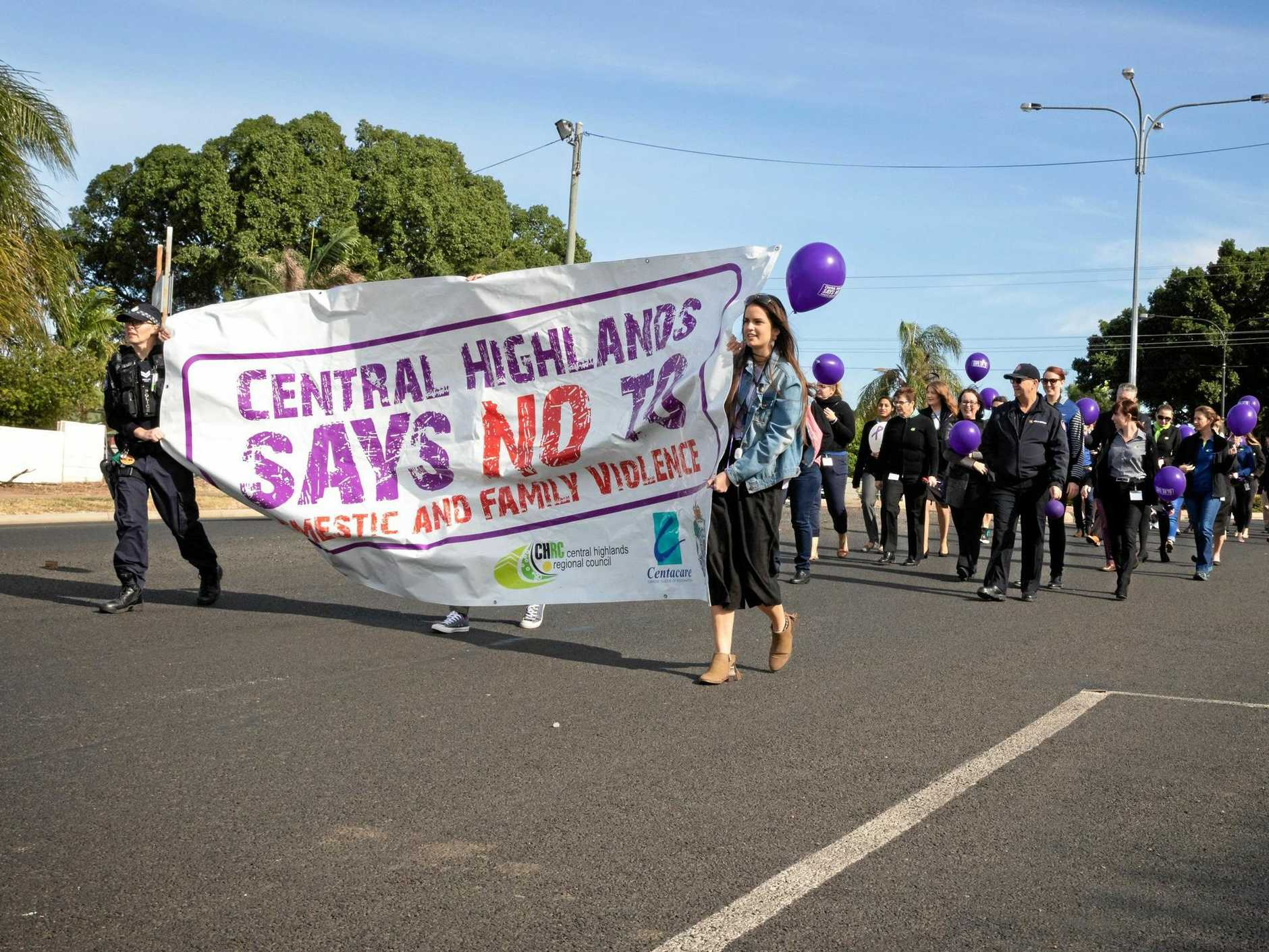 HERE FOR THEM: Residents turned out to a march last week to show their support for those in need.