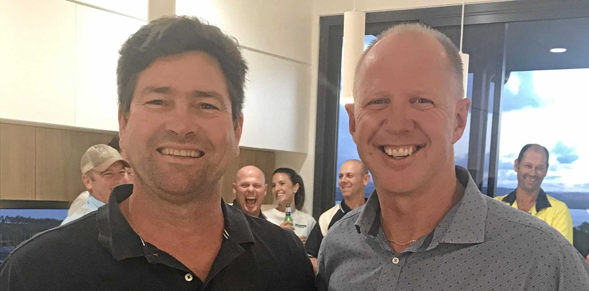 Director of Altum Constructions Rob McCready and Michael Michell from Hutchinson Builders.