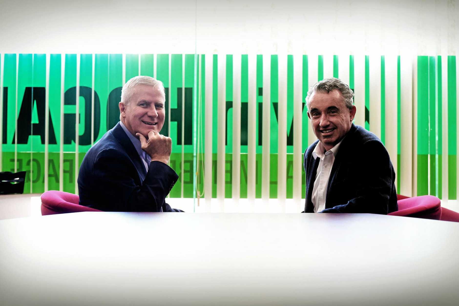 The deputy prime minister Michael McCormack visits local MP Kevin Hogan at Lismore.