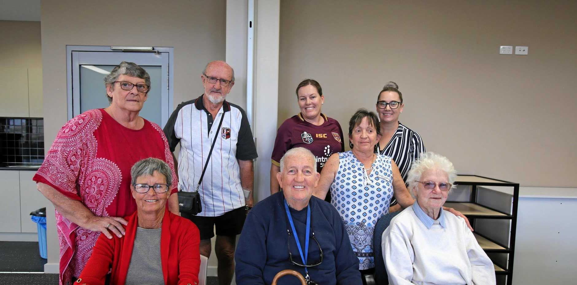SUPPORT: Bowen Stoma and Cancer Support Group members are happy to now have a permanent meeting place.  Front: Leslie Griffen, Noel Lawth, Desley Lawth Back: Maree Digman, Ambrose Digman, Natasha Leaver, Valerie McDonald and Rachael Walton.