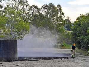Fire crews called to blaze near rail line