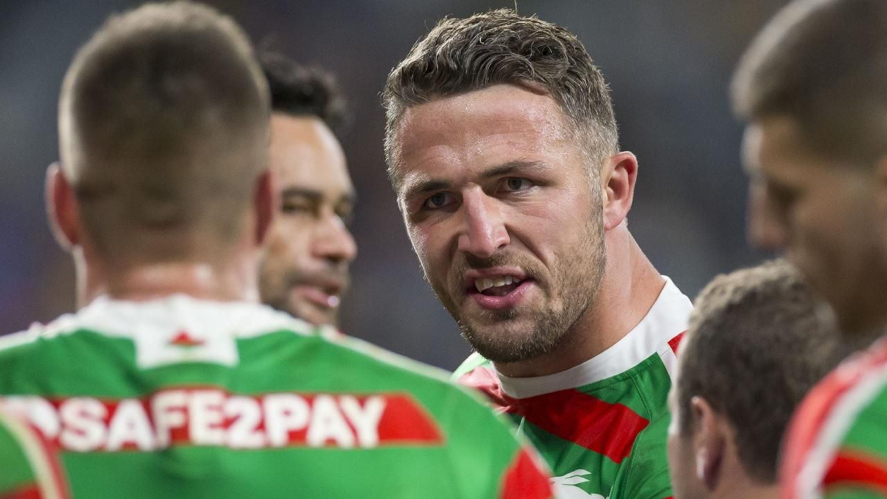 Sam Burgess' absence will hit the Rabbitohs hard. Image: AAP Image/Craig Golding