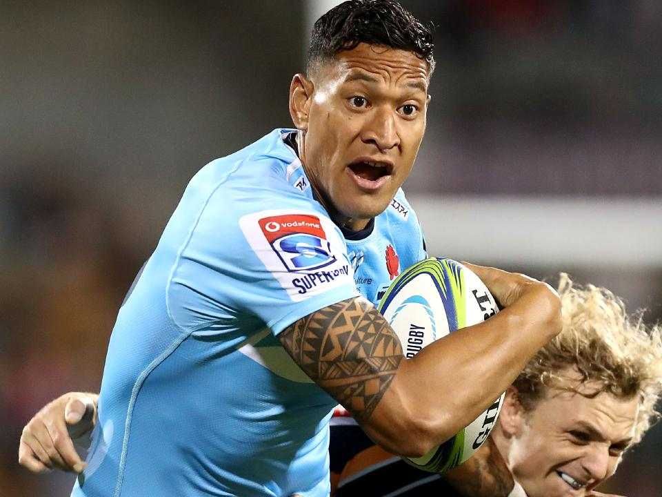Israel Folau has found a saviour of a different sort in Mark Latham. Picture: Mark Metcalfe/Getty Images