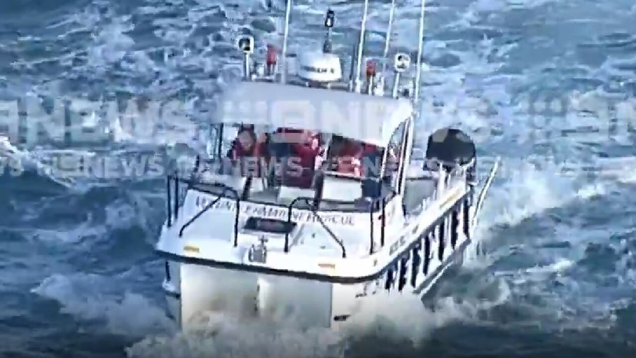 Authorities search waters off the Gold Coast for a vintage plane missing. Photo: 9 News