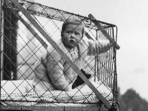 The mind-boggling baby cage from yesteryear