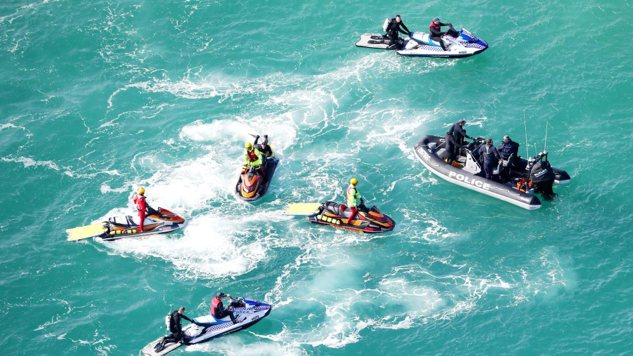 The search for the missing Yak-52 plane around South Stradbroke Island. Picture: NIGEL HALLETT