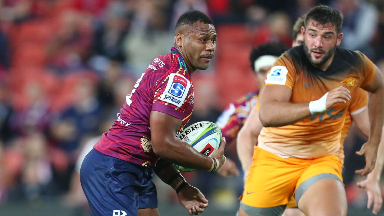 Samu Kerevi has been devastating in the midfield for the Reds. Picture: Chris Hyde/Getty Images